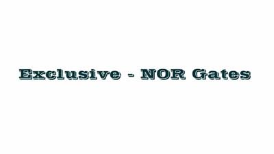 Exclusive-NOR Gate (Screencast)