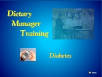 Dietary Manager Training: Diabetes