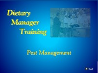 Dietary Manager Training: Pest Management