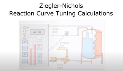 Ziegler-Nichols Reaction Curve Tuning Calculations (Screencast)