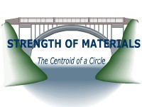 Strength of Materials: The Centroid of a Circle