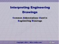 Interpreting Engineering Drawings: Common Abbreviations