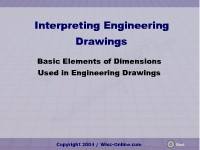Basic Elements of Dimensions Used in Engineering Drawings