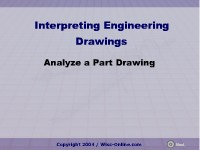 Analyze a Part Drawing