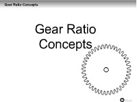 Gear Ratio Concepts