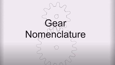 Gear Nomenclature (Screencast)