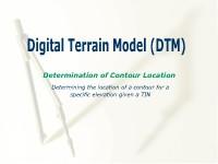 Digital Terrain Model (DTM): Determining Contour Location