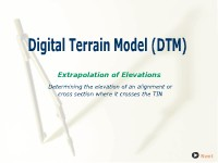Digital Terrain Model: Extrapolation of Elevations