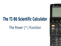 The TI-86 Calculator: The Power Function
