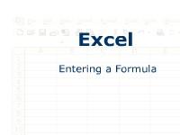 Excel: Entering a Formula