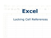 Excel: Locking Cell References