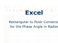 Excel: Rectangular to Polar Conversion for the Phase Angle in Radians
