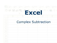 Excel: Complex Subtraction
