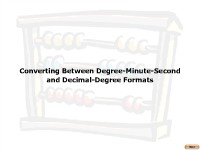 Introduction to Converting Between Degree Minute Second and Decimal Degree