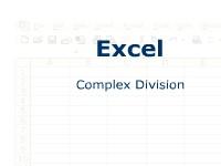 Excel: Complex Division