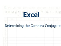 Excel: Determining the Complex Conjugate