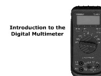 An Introduction to the Digital Multimeter