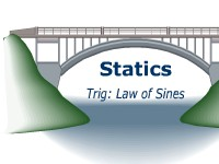 Statics -- Trig: The Law of Sines