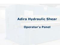 Shear - Hydraulic - Adira - Operator's Panel