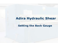 Shear - Hydraulic - Adira - Setting Back Gauge