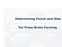 Determining Punch & Dies for Press Brake Forming
