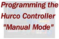 HURCO Controller – Interactive Programming - Manual