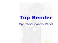 Top Bender -  Operator's Control Panel