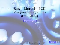 Saw - Marvel - PCII - Programming a Job (Full CNC)