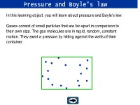 Pressure and Boyle's Law