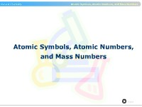 Atomic Symbols, Atomic Numbers, and Mass Numbers