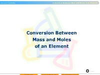 Conversion Between Mass and Moles of an Element