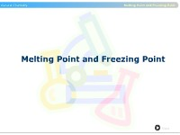 Melting Point and Freezing Point