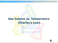 Gas Volume vs. Temperature (Charles's Law)