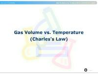 Gas Volume vs. Temperature (Charles's Law)