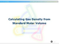 Calculating Gas Density from Standard Molar Volume