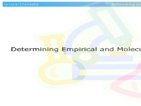 Determining Empirical and Molecular Formulas