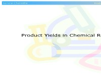 Product Yields in Chemical Reactions