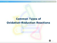 Common Types of Oxidation-Reduction Reactions