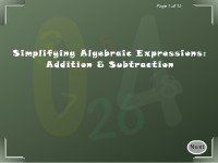 Simplifying Algebraic Expressions: Addition & Subtraction