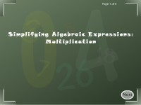Simplifying Algebraic Expressions: Multiplication