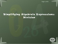 Simplifying Algebraic Expressions: Division