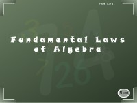 Fundamental Laws of Algebra