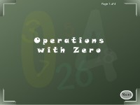 Operations with Zero