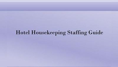 Hotel Housekeeping Staffing Guide (Screencast)