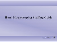 Hotel Housekeeping Staffing Guide