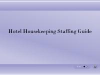 Hotel Housekeeping Staffing Guide