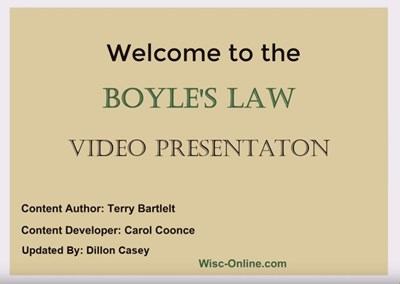 Boyle's Law (Screencast)