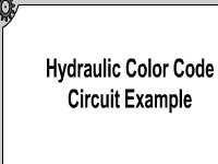 Hydraulic Color Code Circuit Example