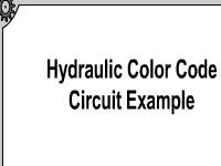 Hydraulic Color Code Circuit Example