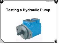 Testing a Hydraulic Pump